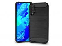 Huawei/Honor 20/Nova 5T szilikon hátlap - Carbon - fekete