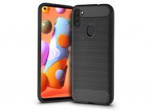 Samsung A115F Galaxy A11 szilikon hátlap - Carbon - fekete