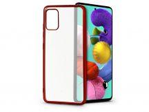 Samsung A515F Galaxy A51 szilikon hátlap - Electro Matt - piros