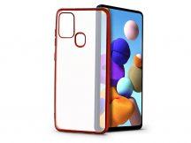 Samsung A217F Galaxy A21s szilikon hátlap - Electro Matt - piros