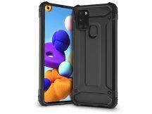 Samsung A217F Galaxy A21s ütésálló hátlap - Armor - fekete