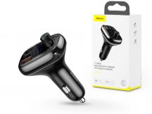 Baseus Bluetooth FM-transmitter/szivargyújtó töltő - 2xUSB+Type-C+MP3+TF/microSD kártyaolvasó+QC3.0 - Baseus S-13 - black