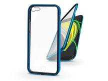 Apple iPhone 7/iPhone 8/SE 2020 mágneses, 2 részes hátlap előlapi üveggel - Magneto 360 - kék