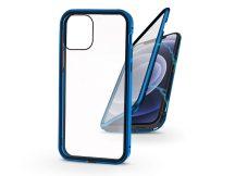Apple iPhone 12 Mini mágneses, 2 részes hátlap előlapi üveggel - Magneto 360 - kék