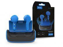 Quoa Bluetooth sztereó TWS headset v5.0 + töltőtok - Quoa K28 True Wireless Headset - fekete/kék