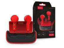 Quoa Bluetooth sztereó TWS headset v5.0 + töltőtok - Quoa K28 True Wireless Headset - fekete/piros