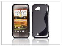 HTC Desire VC szilikon hátlap - S-Line - fekete