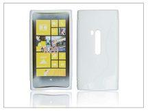 Nokia Lumia 920 szilikon hátlap - S-Line - fehér