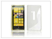 Nokia Lumia 920 szilikon hátlap - S-Line - átlátszó