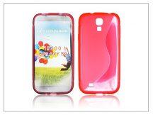 Samsung i9500 Galaxy S4 szilikon hátlap - piros - S-Line