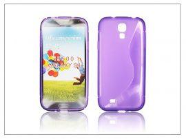 Samsung i9500 Galaxy S4 szilikon hátlap - lila - S-Line