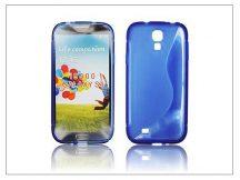 Samsung i9500 Galaxy S4 szilikon hátlap - kék - S-Line