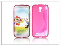 Samsung i9500 Galaxy S4 szilikon hátlap - pink - S-Line