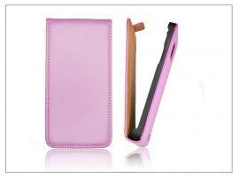 Slim Flip bőrtok - Samsung i9500 Galaxy S4 - lila