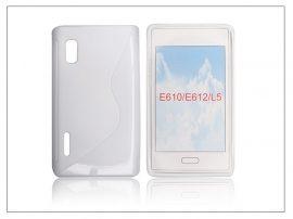 LG E610 Optimus L5 szilikon hátlap - S-Line - fehér