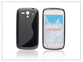 Huawei Ascend G300 szilikon hátlap - S-Line - fekete