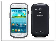 Samsung i8190 Galaxy S III Mini hátlap - EFC-1M7BBEGSTD - black/dark blue
