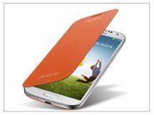Samsung i9500 Galaxy S4 flipes hátlap - EF-FI950BOEGWW gyári - orange