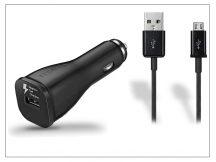 Samsung gyári USB szivargyújtós töltő + micro USB adatkábel - 5V/2A - EP-LN915U+ECB-DU4ABE black - Adaptive Fast Charging (ECO csomagolás)