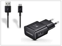 Samsung gyári USB hálózati töltő adapter + micro USB adatkábel - 5V/2A - EP-TA20EBE + ECC1DU4BBE black (ECO csomaglás)