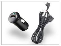 Sony Ericsson gyári USB szivargyújtós töltő adapter + micro USB adatkábel - 5V/1,2A - AN400+EC600L (csomagolás nélküli)