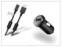 Sony Ericsson gyári USB szivargyújtós töltő adapter + micro USB adatkábel - 5V/1,2A - AN400+EC450 (ECO csomagolás)