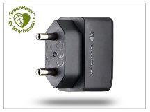 Sony Ericsson USB gyári hálózati töltő adapter adatkábel nélkül - 5V/0,85A - EP800  GreenHeart (csomagolás nélküli)