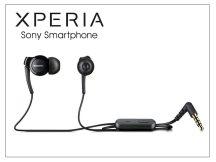 Sony Xperia gyári sztereó felvevős J.B. szett - 3,5 mm jack - MH-EX300AP black (csomagolás nélküli)