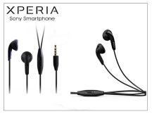 Sony Xperia gyári sztereó felvevős J.B. szett - 3,5 mm jack - MH410C black (csomagolás nélküli)