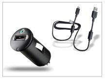 Sony Ericsson gyári USB szivargyújtós töltő adapter + micro USB adatkábel - 5V/1,2A - AN400 (csomagolás nélküli)