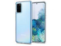 Samsung G985F Galaxy S20+ ütésálló hátlap - Spigen Liquid Crystal - átlátszó
