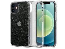 Apple iPhone 12 Mini ütésálló hátlap - Spigen Liquid Crystal Glitter - átlátszó