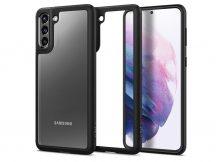 Samsung G996F Galaxy S21+ ütésálló hátlap - Spigen Ultra Hybrid - fekete/átlátszó