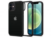 Apple iPhone 12 Mini ütésálló hátlap - Spigen Ultra Hybrid - fekete/átlátszó