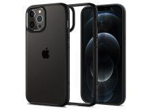 Apple iPhone 12 Pro Max ütésálló hátlap - Spigen Ultra Hybrid - fekete/átlátszó