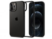 Apple iPhone 12/12 Pro ütésálló hátlap - Spigen Ultra Hybrid - fekete/átlátszó