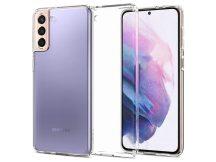Samsung G996F Galaxy S21+ ütésálló hátlap - Spigen Liquid Crystal - átlátszó
