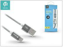 USB - USB Type-C adat- és töltőkábel 1,5 m-es vezetékkel - Devia Gracious USB Type-C 2.0 Cable - grey