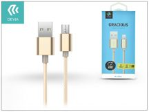 USB - micro USB adat- és töltőkábel 1,5 m-es vezetékkel - Devia Gracious Cable for Android 2.1 - gold