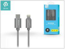 USB Type-C - Lightning adat- és töltőkábel 1 m-es vezetékkel - Devia Gracious USB Type-C to Lightning Cable - grey