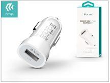Devia Smart USB Car Charger szivargyújtós töltő adapter - 5V/2,1A - white
