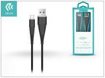 Devia USB töltő- és adatkábel 1,5 m-es vezetékkel - Devia Fish1 Flexible Type-C USB 2.4 - black