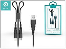 Devia USB töltő- és adatkábel 1,2 m-es vezetékkel - Devia Fish1 Flexible 2in1 for Lightning/Android USB 2.4 - black