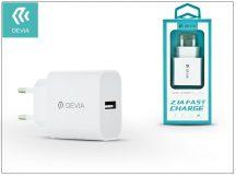 Devia Smart USB hálózati töltő adapter - Devia Smart USB Fast Charge - 5V/2,1A - white