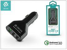 Devia 3xUSB szivargyújtós töltő adapter - 5V/3A/4,8A - Devia Swift Drive 3 Port USB Quick Charge - Qualcomm Quick Charge 3.0 - black