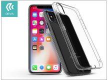 Apple iPhone X szilikon hátlap - Devia Anti-Shock - crystal clear