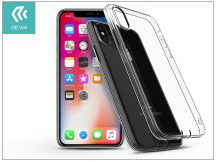 Apple iPhone X szilikon hátlap - Devia Anti-Shock - crystal clear