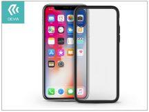 Apple iPhone X hátlap - Devia Nobility - black/transparent