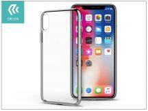 Apple iPhone X hátlap - Devia Glimmer - silver/transparent