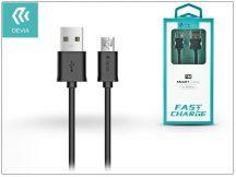 USB - micro USB adat- és töltőkábel 1 m-es vezetékkel - Devia Smart Cable for Android 2.1 - black